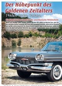 Titelbild der Ausgabe 2/2019 von Der Höhepunkt des Goldenen Zeitalters: 1960er Dodge Polara: Ein futuristisches Coupé für die amerikanische Mittelschicht. Zeitschriften als Abo oder epaper bei United Kiosk online kaufen.
