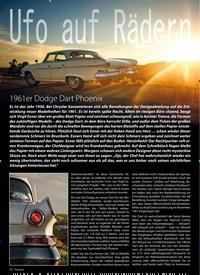 Titelbild der Ausgabe 4/2019 von Ufo auf Radern: 1961er Dodge Dart Phoenix. Zeitschriften als Abo oder epaper bei United Kiosk online kaufen.
