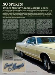 Titelbild der Ausgabe 5/2019 von No Sports!: 1978er Mercury Grand Marquis Coupe. Zeitschriften als Abo oder epaper bei United Kiosk online kaufen.