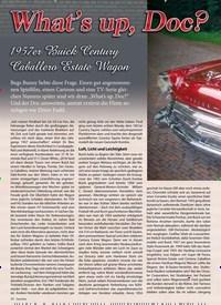 Titelbild der Ausgabe 6/2019 von What's up, Doc?: 1957 Buick Century Caballero Estate Wagon. Zeitschriften als Abo oder epaper bei United Kiosk online kaufen.