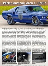 """Titelbild der Ausgabe 1/2020 von 1969er Mustang Mach 1 """"UNKL"""". Zeitschriften als Abo oder epaper bei United Kiosk online kaufen."""