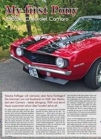 Titelbild der Ausgabe 2/2020 von My first Pony: 1969er Chevrolet Camaro. Zeitschriften als Abo oder epaper bei United Kiosk online kaufen.