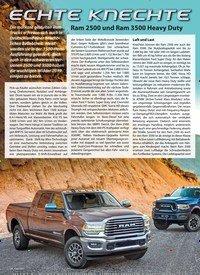 Titelbild der Ausgabe 2/2019 von ECHTE KNECHTE: Ram 2500 und Ram 3500 Heavy Duty. Zeitschriften als Abo oder epaper bei United Kiosk online kaufen.