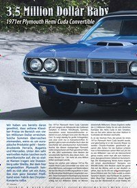 Titelbild der Ausgabe 2/2019 von 3,5 Million Dollar Baby: 1971er Plymouth Hemi Cuda Convertible. Zeitschriften als Abo oder epaper bei United Kiosk online kaufen.
