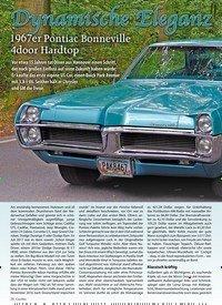 Titelbild der Ausgabe 1/2020 von Dynamische Eleganz: 1967er Pontiac Bonneville 4door Hardtop. Zeitschriften als Abo oder epaper bei United Kiosk online kaufen.