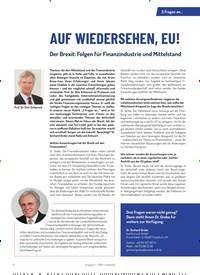 Titelbild der Ausgabe 2/2019 von 3 Fragen an…AUF WIEDERSEHEN, EU!. Zeitschriften als Abo oder epaper bei United Kiosk online kaufen.