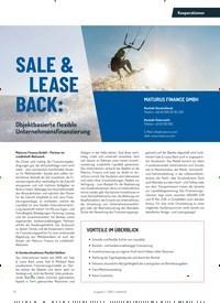 Titelbild der Ausgabe 2/2019 von Kooperationen: SALE & LEASE BACK:. Zeitschriften als Abo oder epaper bei United Kiosk online kaufen.