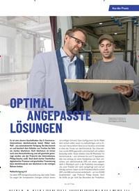 Titelbild der Ausgabe 4/2019 von OPTIMAL ANGEPASSTE LÖSUNGEN. Zeitschriften als Abo oder epaper bei United Kiosk online kaufen.