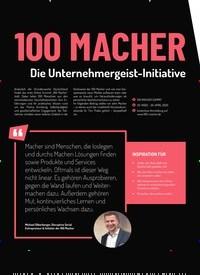 Titelbild der Ausgabe 1/2020 von 100 MACHER. Zeitschriften als Abo oder epaper bei United Kiosk online kaufen.