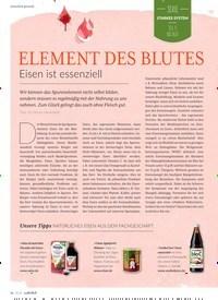 Titelbild der Ausgabe 5/2020 von ELEMENT DES BLUTES. Zeitschriften als Abo oder epaper bei United Kiosk online kaufen.