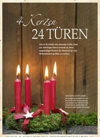 Titelbild der Ausgabe 1/2019 von 4 KerZen 24 TÜREN. Zeitschriften als Abo oder epaper bei United Kiosk online kaufen.