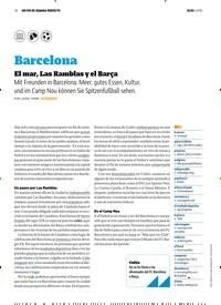 Titelbild der Ausgabe 6/2018 von UN FIN DE SEMANA PERFECTO: Barcelona: El mar, Las Ramblas y el Barça. Zeitschriften als Abo oder epaper bei United Kiosk online kaufen.