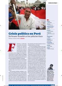 Titelbild der Ausgabe 7/2018 von ESCENAS DE ULTRAMAR: Crisis política en Perú. Zeitschriften als Abo oder epaper bei United Kiosk online kaufen.