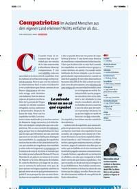 Titelbild der Ausgabe 8/2018 von SOL Y SOMBRA: Compatriotas Im Ausland Menschen aus dem eigenen Land erkennen? Nichts einfacher als das…. Zeitschriften als Abo oder epaper bei United Kiosk online kaufen.