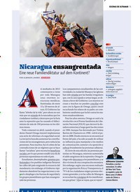 Titelbild der Ausgabe 9/2018 von ESCENAS DE ULTRAMAR: Nicaragua ensangrentada Eine neue Familiendiktatur auf dem Kontinent?. Zeitschriften als Abo oder epaper bei United Kiosk online kaufen.
