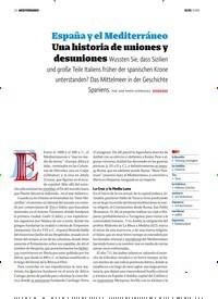 Titelbild der Ausgabe 9/2018 von MEDITERRÁNEO: España y el Mediterráneo. Zeitschriften als Abo oder epaper bei United Kiosk online kaufen.