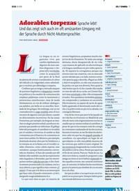Titelbild der Ausgabe 10/2018 von SOL Y SOMBRA: Adorables torpezas Sprache lebt! Und das zeigt sich auch im oft amüsanten Umgang mit der Sprache durch Nicht-Muttersprachler.. Zeitschriften als Abo oder epaper bei United Kiosk online kaufen.