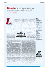 Titelbild der Ausgabe 11/2018 von SOL Y SOMBRA: Silencio In der Stadt ist es laut, auf dem Land herrscht dagegen angenehme Stille... Tatsächlich?. Zeitschriften als Abo oder epaper bei United Kiosk online kaufen.