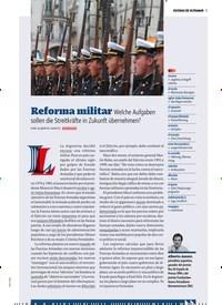 Titelbild der Ausgabe 11/2018 von ESCENAS DE ULTRAMAR: Reforma militar Welche Aufgaben sollen die Streitkräfte in Zukunft übernehmen?. Zeitschriften als Abo oder epaper bei United Kiosk online kaufen.