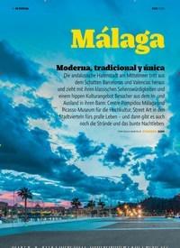 Titelbild der Ausgabe 11/2018 von EN PORTADA: Málaga: Moderna, tradicional y única. Zeitschriften als Abo oder epaper bei United Kiosk online kaufen.