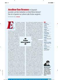 Titelbild der Ausgabe 1/2019 von SOL Y SOMBRA: Acabar las frases Im Gespräch ausreden und den Gedanken zu Ende führen können? Das ist in Spanien nur Lehrern oder Ärzten vergönnt…. Zeitschriften als Abo oder epaper bei United Kiosk online kaufen.