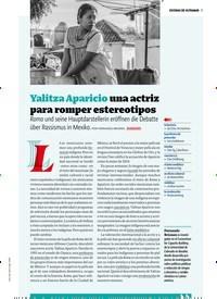 Titelbild der Ausgabe 3/2019 von ESCENAS DE ULTRAMAR: Yalitza Aparicio una actriz para romper estereotipos. Zeitschriften als Abo oder epaper bei United Kiosk online kaufen.