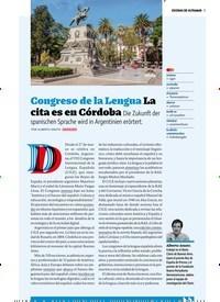 Titelbild der Ausgabe 4/2019 von ESCENAS DE ULTRAMAR: Congreso de la Lengua La cita es en Córdoba Die Zukunft der spanischen Sprache wird in Argentinien erörtert.. Zeitschriften als Abo oder epaper bei United Kiosk online kaufen.