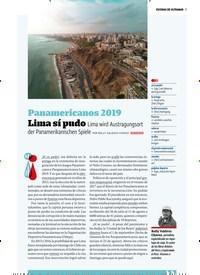 Titelbild der Ausgabe 5/2019 von ESCENAS DE ULTRAMAR :Panamericanos 2019. Zeitschriften als Abo oder epaper bei United Kiosk online kaufen.