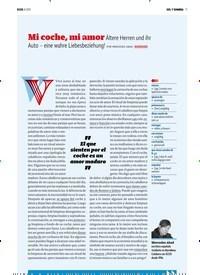 Titelbild der Ausgabe 8/2019 von SOL Y SOMBRA:Mi coche, mi amor. Zeitschriften als Abo oder epaper bei United Kiosk online kaufen.