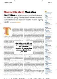 Titelbild der Ausgabe 3/2020 von UN DÍA EN LA VIDA DE: Manuel Sestelo Maestro canteiro. Zeitschriften als Abo oder epaper bei United Kiosk online kaufen.