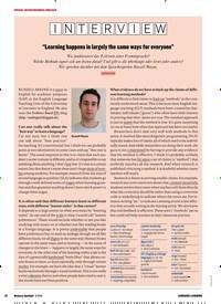 """Titelbild der Ausgabe 3/2018 von I1N1T1E1R1V4I1E1W4: """"Learning happens in largely the same ways for everyone"""". Zeitschriften als Abo oder epaper bei United Kiosk online kaufen."""