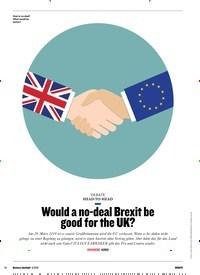 Titelbild der Ausgabe 6/2018 von HEAD-TO-HEAD: Would a no-deal Brexit be good for the UK?. Zeitschriften als Abo oder epaper bei United Kiosk online kaufen.