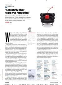 """Titelbild der Ausgabe 7/2018 von IT'S PERSONAL: """"Eileen Gray never found true recognition"""". Zeitschriften als Abo oder epaper bei United Kiosk online kaufen."""