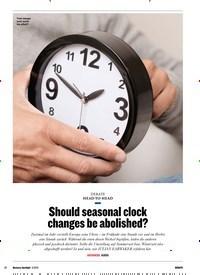 Titelbild der Ausgabe 3/2019 von HEAD-TO-HEAD: Should seasonal clock changes be abolished?. Zeitschriften als Abo oder epaper bei United Kiosk online kaufen.