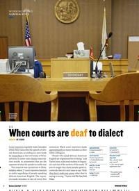 Titelbild der Ausgabe 4/2019 von WORKING WORLD NAMES & NEWS: U.S. When courts are deaf to dialect: MEDIUM US AUDIO. Zeitschriften als Abo oder epaper bei United Kiosk online kaufen.