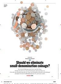 Titelbild der Ausgabe 5/2019 von HEAD-TO-HEAD: Should we eliminate small-denomination coinage?. Zeitschriften als Abo oder epaper bei United Kiosk online kaufen.
