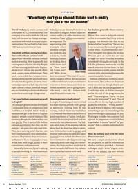"""Titelbild der Ausgabe 7/2019 von INTERVIEW: """"When things don't go as planned, Italians want to modify their plan at the last moment"""". Zeitschriften als Abo oder epaper bei United Kiosk online kaufen."""