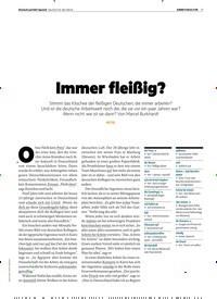 Titelbild der Ausgabe 1/2019 von Immer fleißig?. Zeitschriften als Abo oder epaper bei United Kiosk online kaufen.