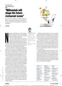 """Titelbild der Ausgabe 1/2019 von IT'S PERSONAL: """"Millennials will shape the future restaurant scene"""". Zeitschriften als Abo oder epaper bei United Kiosk online kaufen."""