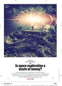 Titelbild der Ausgabe 1/2019 von HEAD-TO-HEAD: Is space exploration a waste of money?. Zeitschriften als Abo oder epaper bei United Kiosk online kaufen.