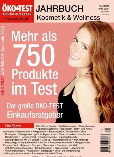 501bf5f7b7f84b Aktuelles Titelbild von ÖKO-TEST Jahrbuch Kosmetik - epaper. In der Ausgabe  12