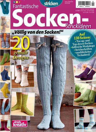zeitschrift simply kreativ fantastische socken strickideen als epaper. Black Bedroom Furniture Sets. Home Design Ideas
