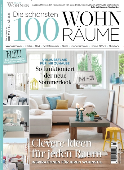 die sch nsten 100 wohnr ume epaper bei abos abonnement pr mienabos. Black Bedroom Furniture Sets. Home Design Ideas