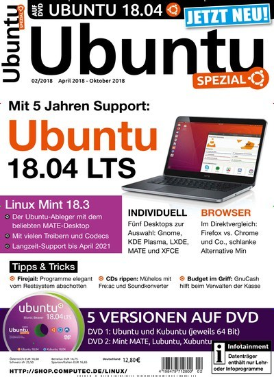 ubuntu spezial als epaper f r 12 80. Black Bedroom Furniture Sets. Home Design Ideas