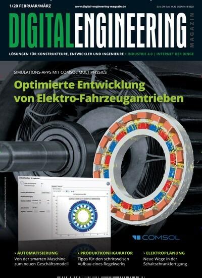 Aktuelles Titelbild von Digital Engineering Magazin - epaper. Entdecken Sie jetzt die Ausgabe 1/2020. Lesen Sie gerne Industriemagazine und Handwerkmagazine? Dann empfehlen wir Ihnen Digital Engineering Magazin - epaper als digitales Abo (eAbo) und Einzelheft zum sofort Loslesen oder als Geschenkabo zum Vorbestellen.