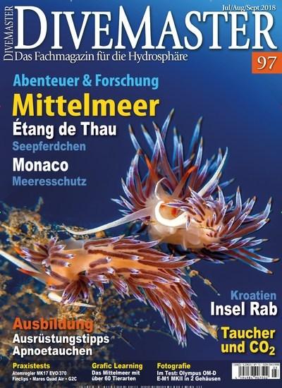 Aktuelles Titelbild von Divemaster - epaper. In der Ausgabe 3/2018 geht es um die Themen: Étang de Thau - Seepferdchen; Monaco - Meeresschutz; Kroation - Insel Rab; Ausbildung - Ausrüstungstipps Apnoetauchen; Taucher und CO2. Lesen Sie gerne Sportmagazine? Dann empfehlen wir Ihnen Divemaster - epaper als digitales Abo (eAbo) und Einzelheft zum sofort Loslesen oder als Geschenkabo zum Vorbestellen.