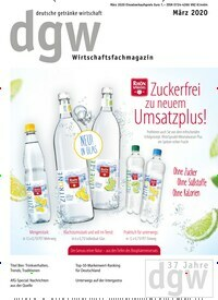 Titelbild der Ausgabe 3/2020 von dgw deutsche getränke wirtschaft. Zeitschriften als Abo oder epaper bei United Kiosk online kaufen.
