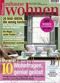 zeitschrift zuhause wohnen kaufen als epaper ab 2 99. Black Bedroom Furniture Sets. Home Design Ideas